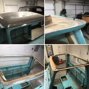 1962 Willys Pickup Roof panel Replacement